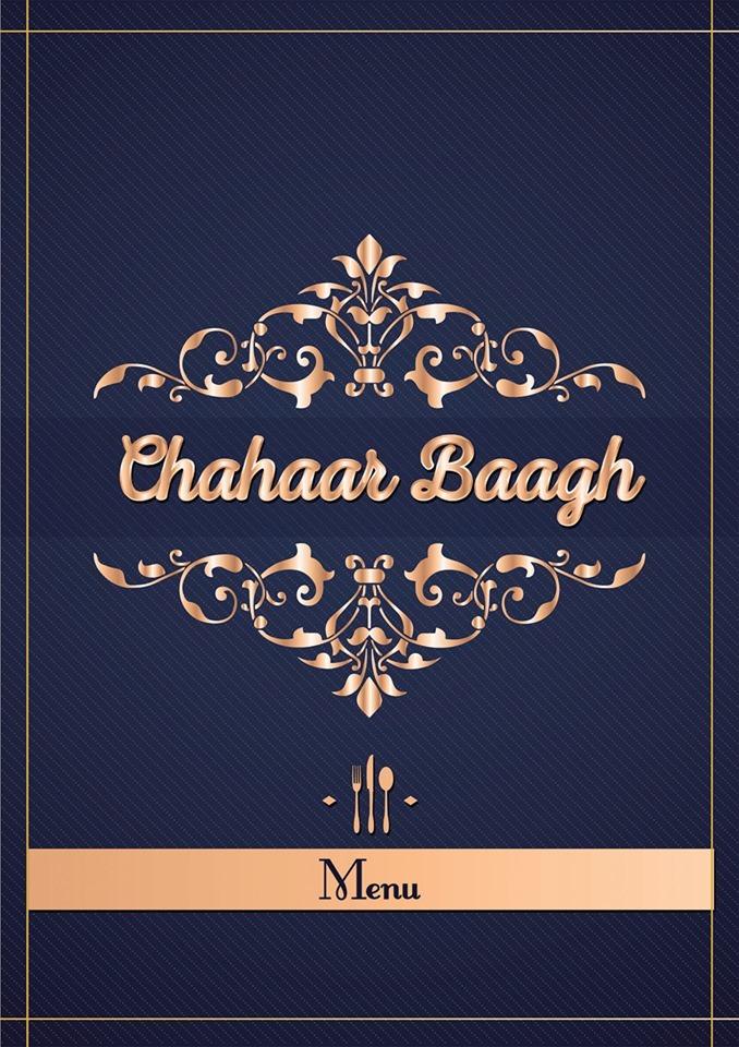 Chahaar Baagh Menu