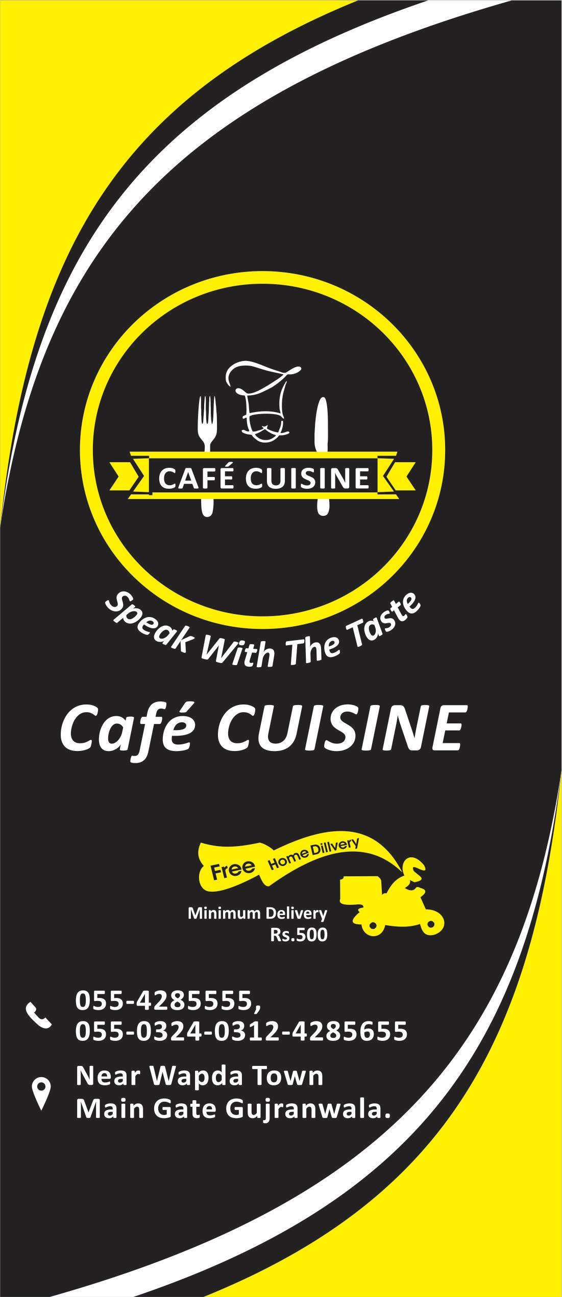 Cafe Cuisine Menu