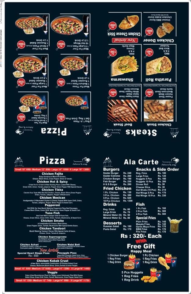 PIZZA FORT Menu