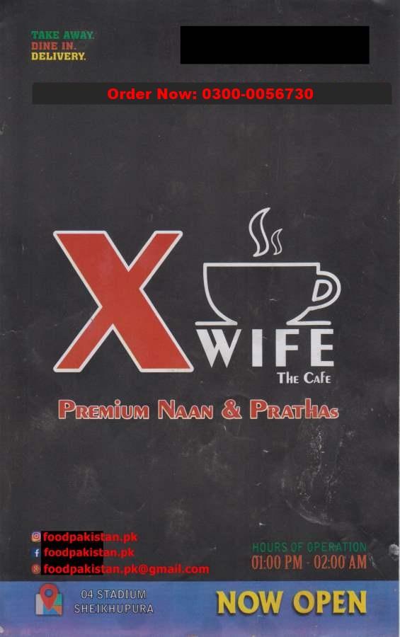 X wife the Cafe Menu
