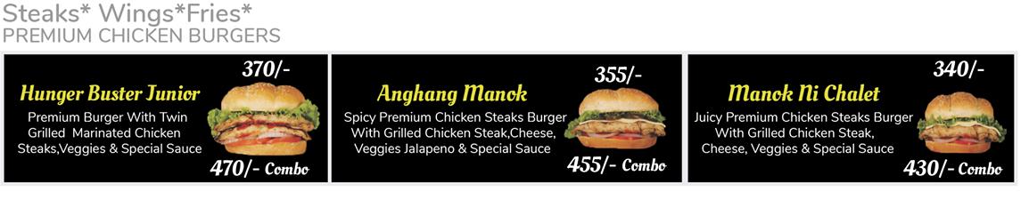Burger Chalet Menu
