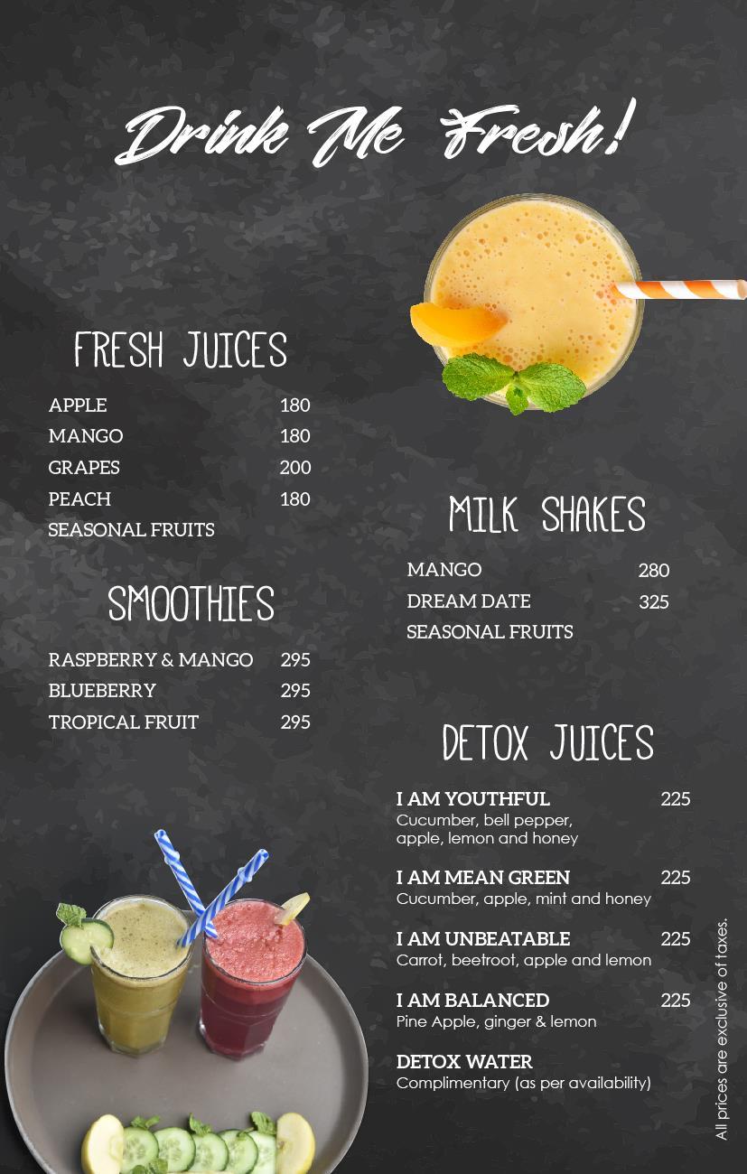 Flavors Cafe Menu