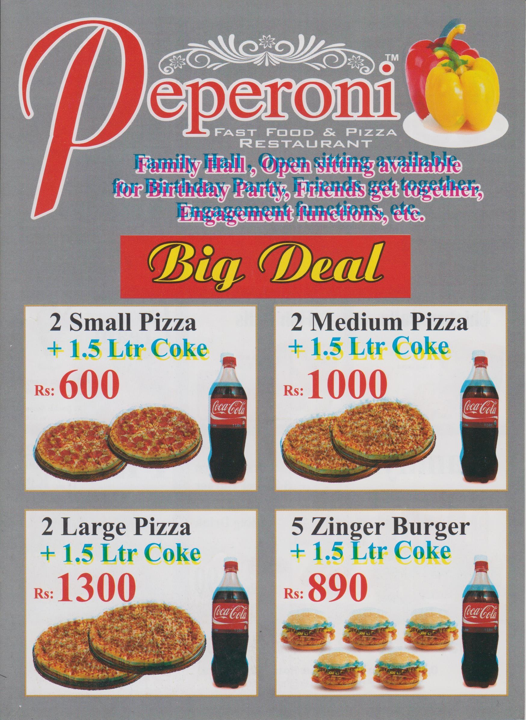 Peperoni Menu